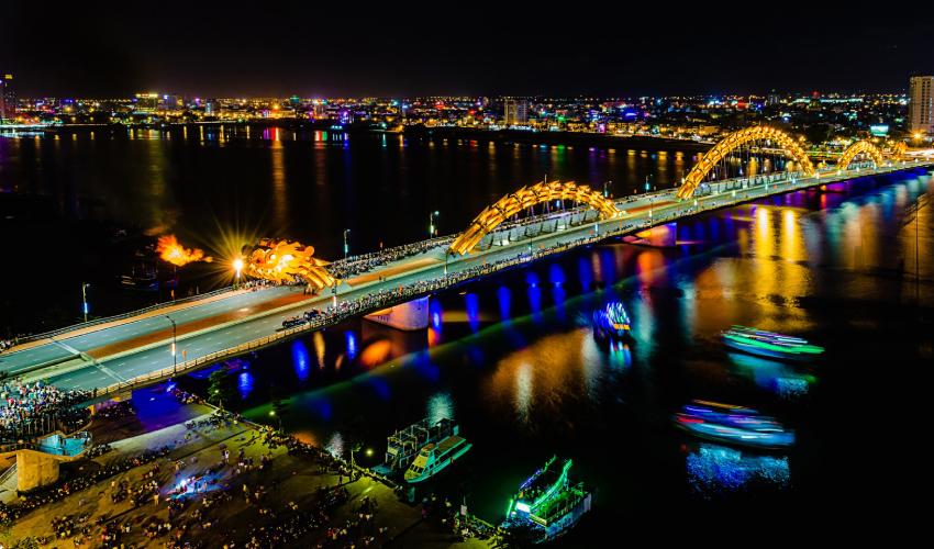Dragon Bridge - what to do in da nang at night