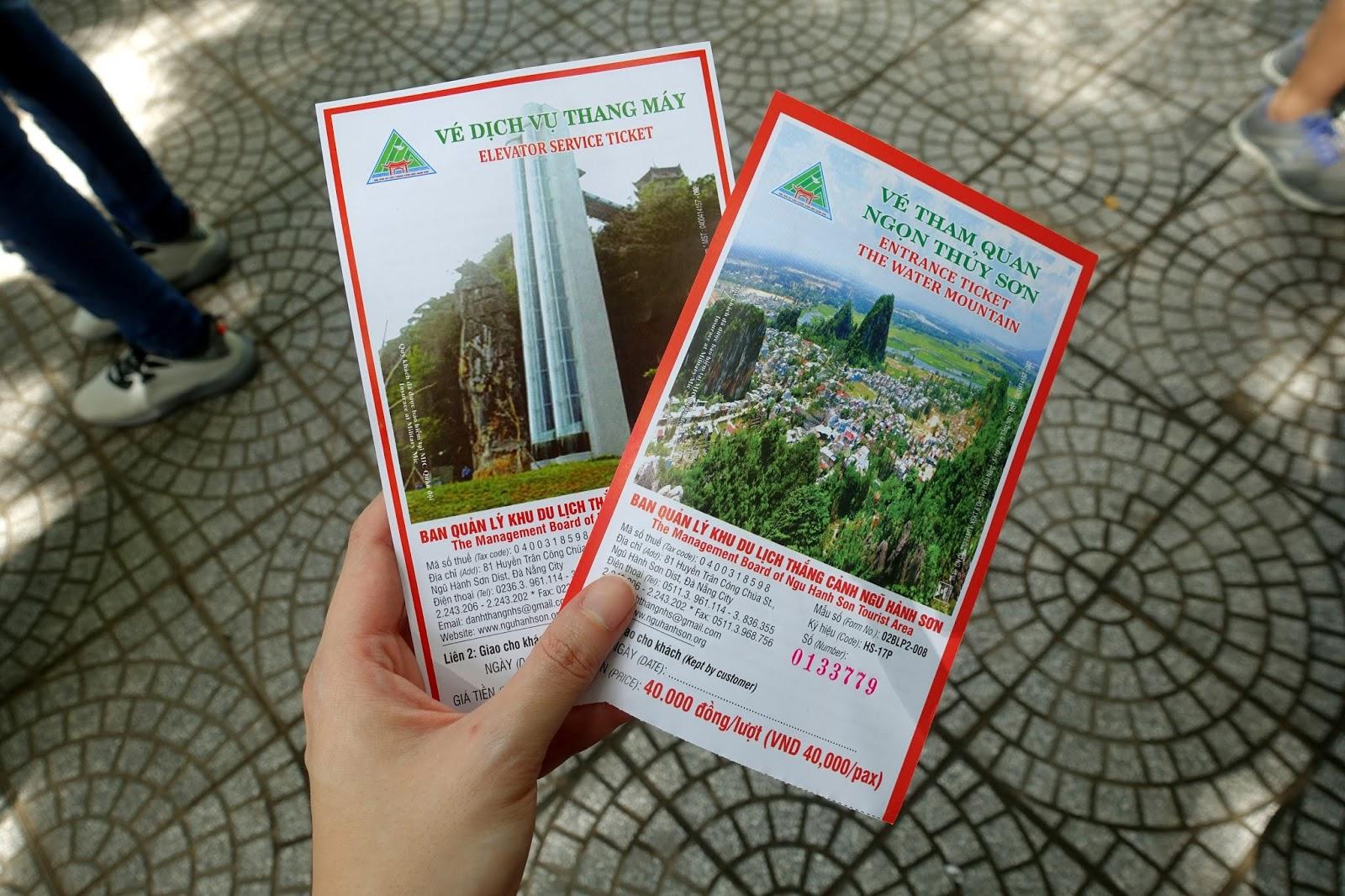Marble Mountain entrance fee