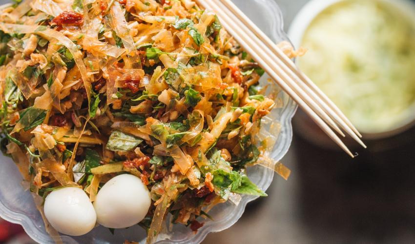 banh trang tron - Places to eat in Da Nang