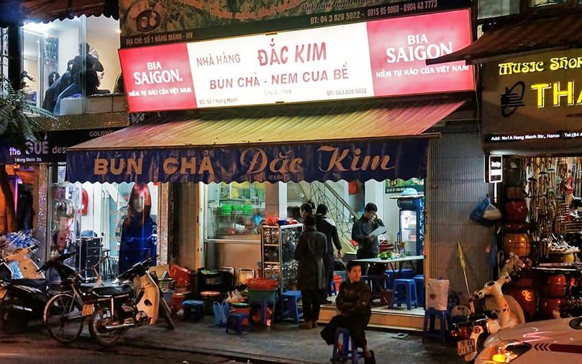 Bun-Cha-Nem-Cua-Dac-Kim - Where to eat in Hanoi Vietnam