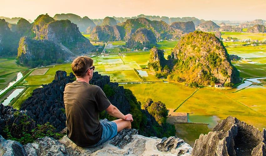 a great panorama view of Ninh Binh