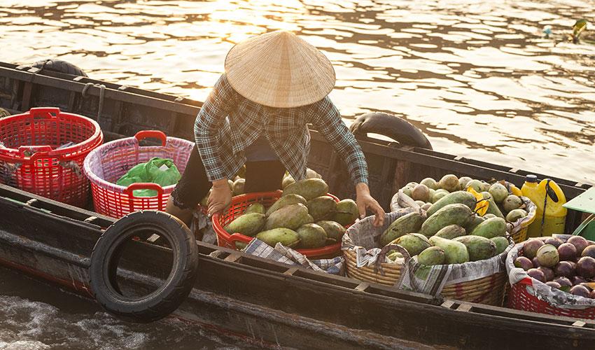 floating market mekong