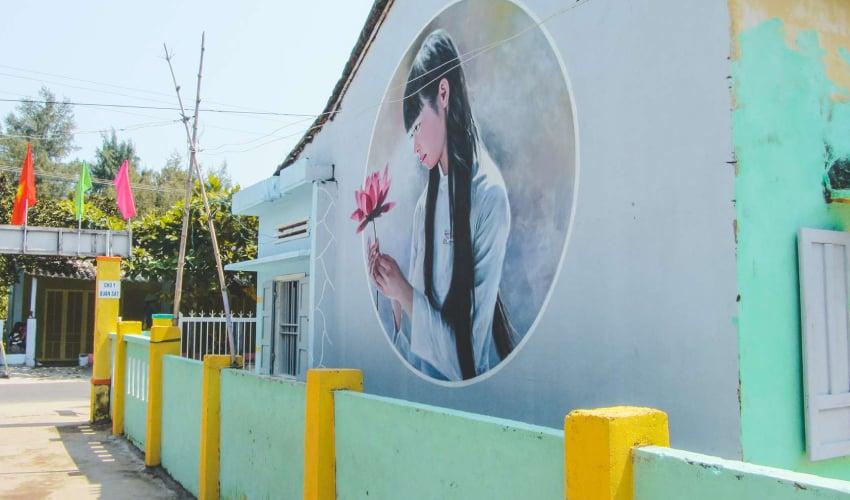 beautiful tam thanh mural village
