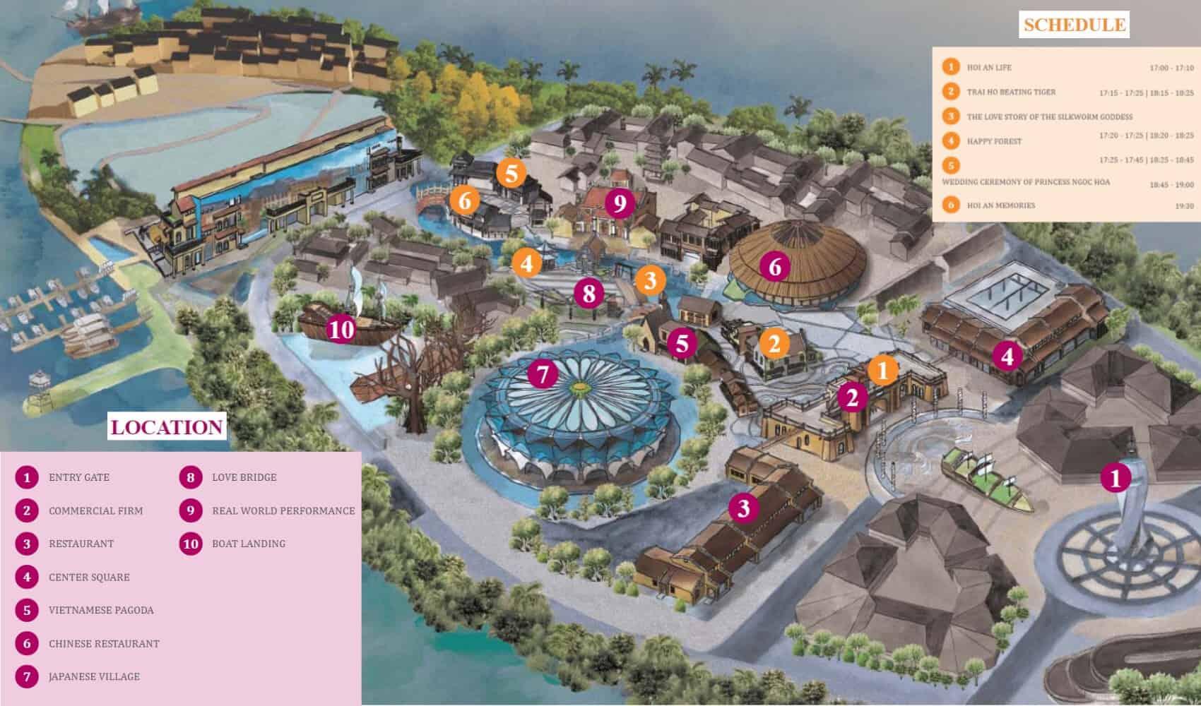 hoi an impression theme park map
