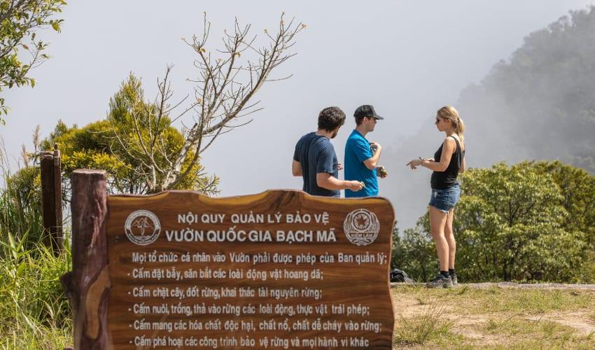 Bach Ma National Park Map