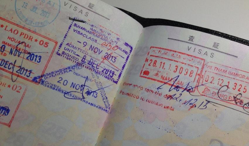 Laos visa sticker